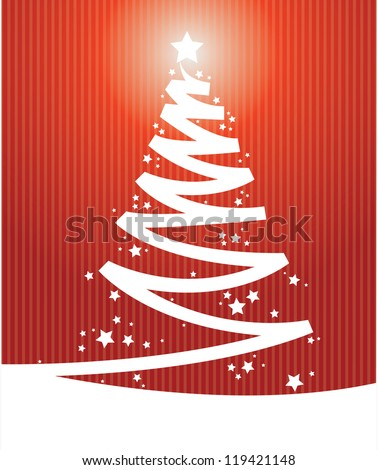 red color Vintage christmas card - stock vector