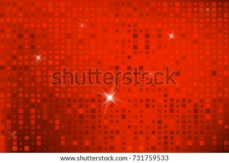 red colored background of squares. Vector