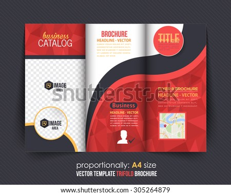 Red Colors Polygonal Geometric Elements Style Stock Vector 2018