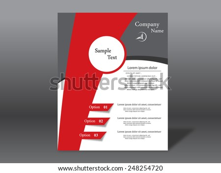 Red Company Brochure - stock vector
