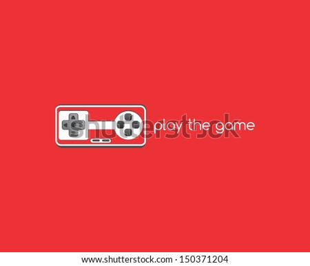 red console game art theme - stock vector