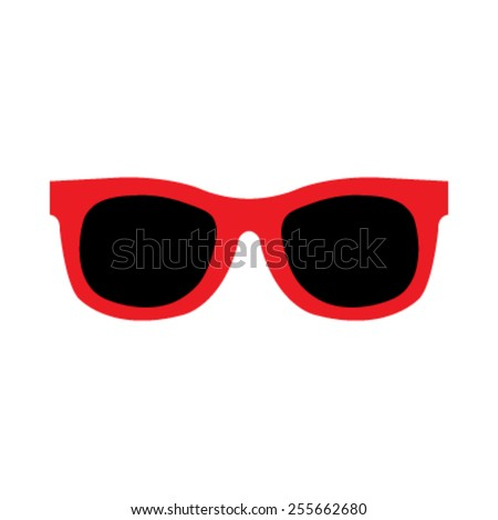 Red Cool Hipster Summer Sunglasses Shades vector icon