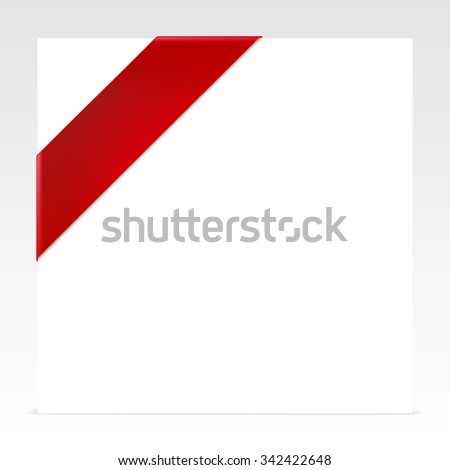 Red corner ribbon with place for your text - stock vector