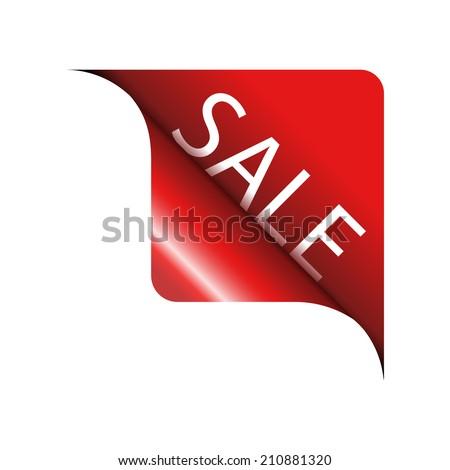 Red Corner SALE - stock vector