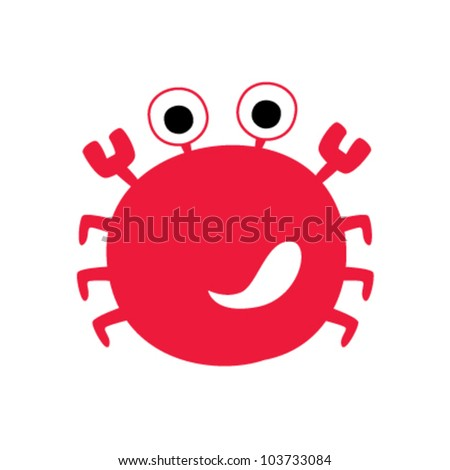 red crab - stock vector