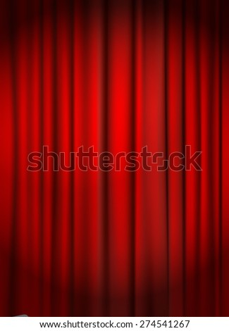 red curtain background vector illustration
