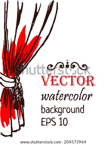 Red curtain. Vector illustration - stock vector