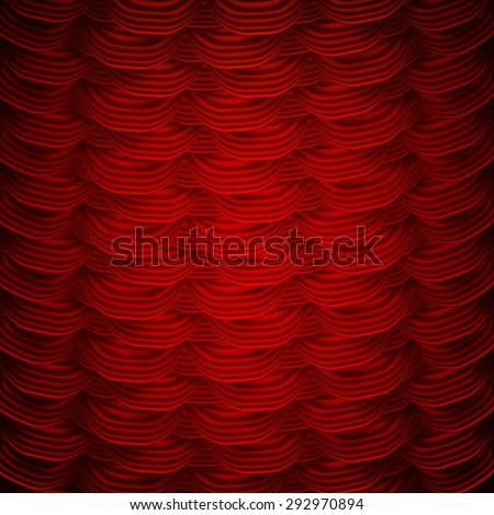 Red curtains to theater stage. EPS 10 vector file included - stock vector