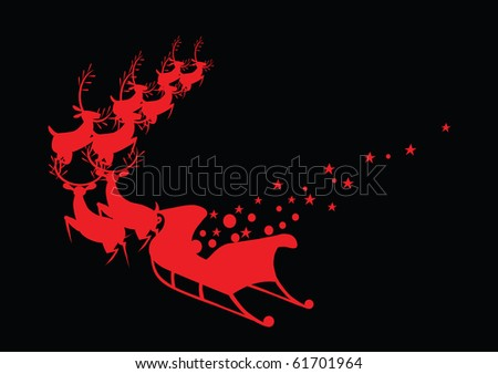 red deer - stock vector