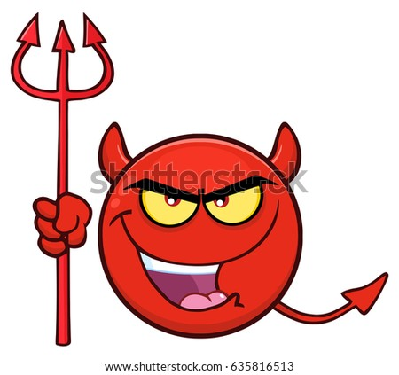 Red Devil Cartoon Emoji Face Character Stock Vector ...