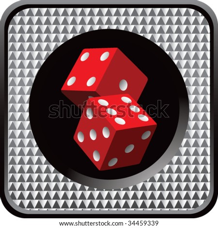 red dice on halftone web button
