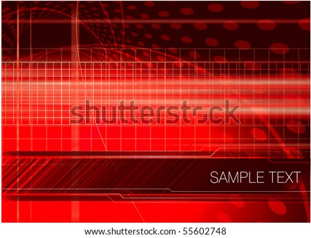 Red digital abstract. Vector. - stock vector