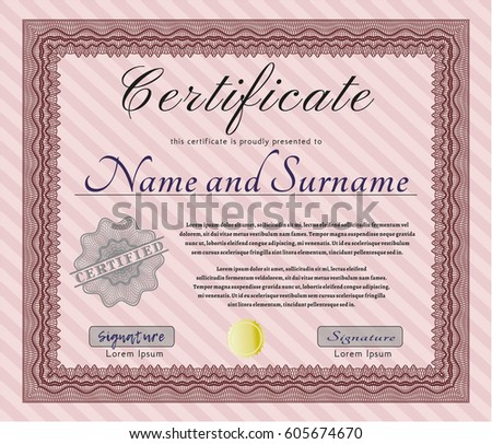 Certificate Completion Template Sample Background Colorful – Money Certificate Template