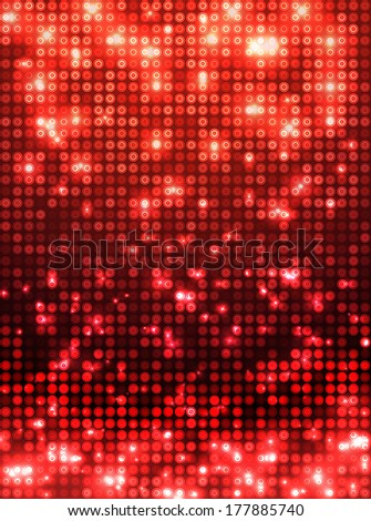 red disco vector background  vertical mosaic with light spots - stock vector
