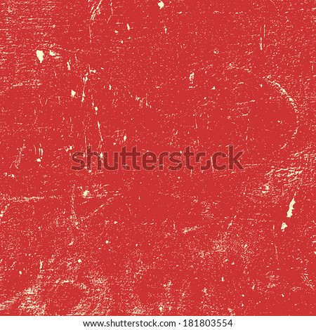 Red Distressed Paint Texture for your design. EPS10 vector. - stock vector