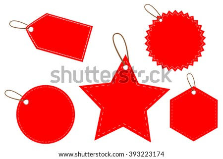Red doff Blank Tags