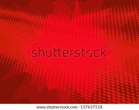 red dot background - stock vector