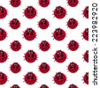 red dots ladubags seamless pattern - stock