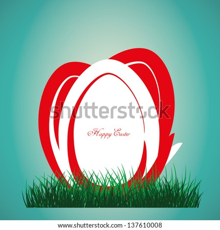 Red easter eggs - stock vector