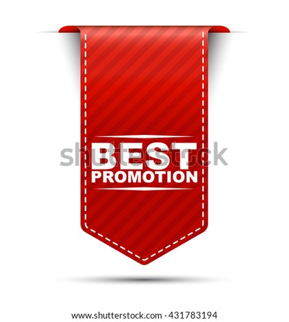 Red easy vector illustration isolated ribbon banner best promotion. This element is well adapted to web design. - stock vector