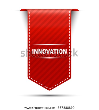 Red easy vector illustration isolated ribbon banner innovation. This element is well adapted to web design. - stock vector