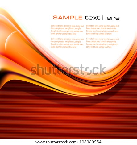 Red elegant abstract background illustration. Vector - stock vector