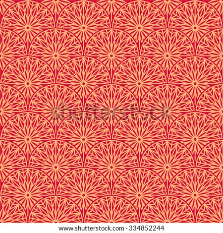 Red elegant ornamental seamless pattern. Vector illustration - stock vector