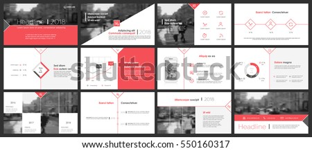 Red elements of infographics for minimalist design style on a white background. Use in presentation templates, flyer and leaflet, corporate report, marketing, advertising, annual report and banner.