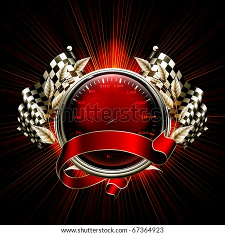 Red Emblem Races, 10eps - stock vector