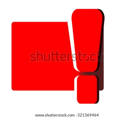 Red exclamation mark , isolated on white - stock vector
