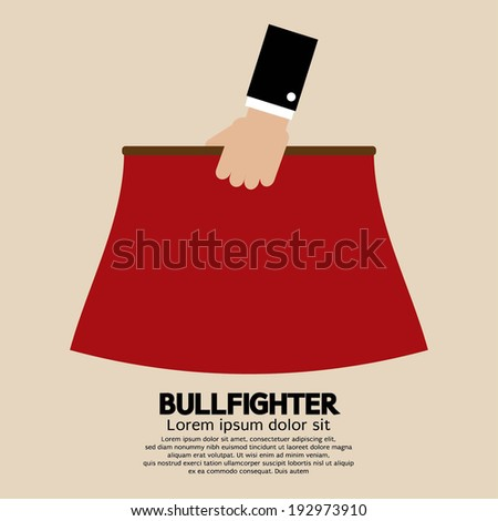 Red Fabric of Bullfighter Vector Illustration - stock vector
