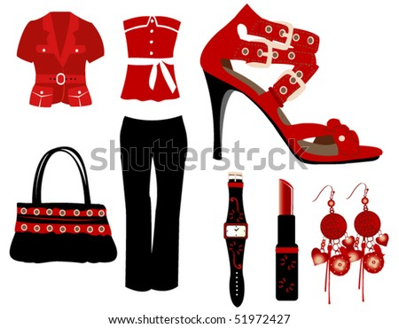 Red fashion - stock vector