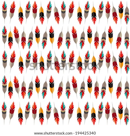 Red feather. - stock vector