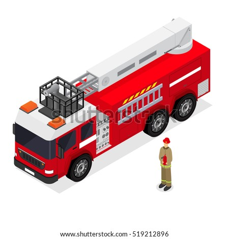 red fire engine firefighter uniform isometric stock vector 519212896 rh shutterstock com fire engine pump diagram Fire Pump System Diagram