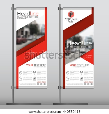 Red Flag Banner Business Brochure Flyer Stock Vector 441112141 ...