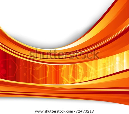 Red flare energy. Vector illustration - stock vector