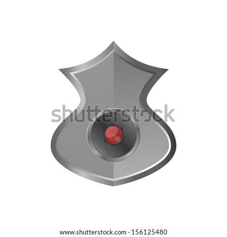 red flash camera lens shield - stock vector