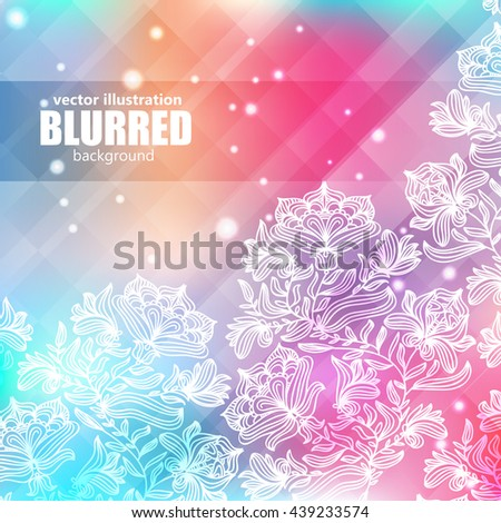 Red Flowers Border, With Gradient Mesh, Vector Illustration - stock vector