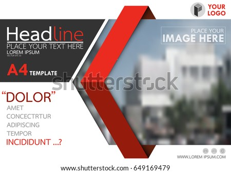 Red Flyer Cover Business Brochure Vector Stock Vector ...