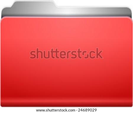 red folder - stock vector