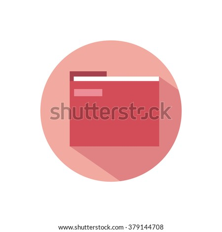 red folder for papers and documents icon symbol of a computer flat - stock vector