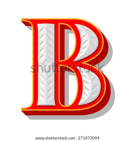 Red font with stamping. - stock vector