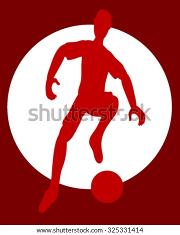 Red football player