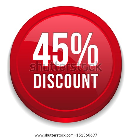 Red forty-five percent discount button