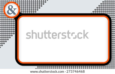 Red frame for your text and ampersand - stock vector