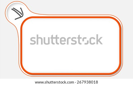 Red frame for your text and arrow - stock vector