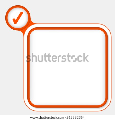 red frame for your text and check box - stock vector