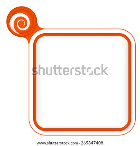 Red frame for your text and spiral - stock vector