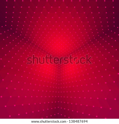 Red geometric design. - stock vector