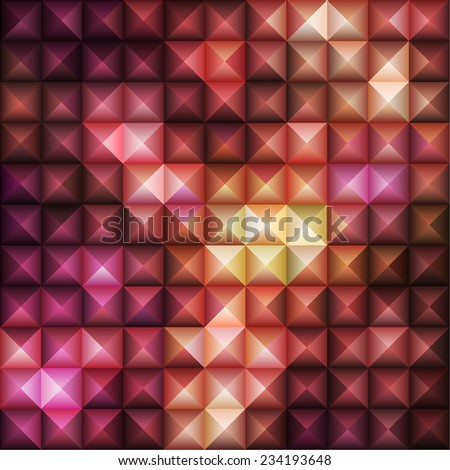 Red Geometric Pattern, vector eps10 illustration - stock vector